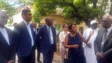Visite :Abdoulaye Diop à l'Aapravasi Ghat