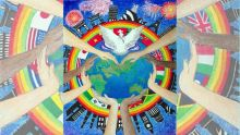 La paix célébrée à travers  l'art