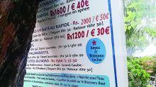 Plaisancier illégal à Bain-Boeuf : un tableau d'affichage enlevé par la Beach Authority