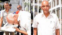 Jayen Chellum se rase le crâne devant le Parlement