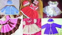 Sparkling Angel and her crochet baby outfits