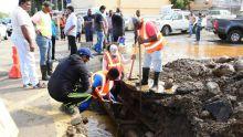 Tuyau CWA endommagé à la rue Vandermeersch : cinq familles toujours pas approvisionnées en eau