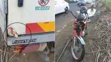 À La Flora : un motocycliste grièvementblessé après une collision