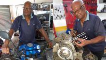 Toujours actif à 71 ans : Marymootoo Cuneapen, 'senior' consultant en motos