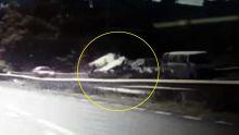 Réduit : les images d'un accident captées par la caméra d'un automobiliste