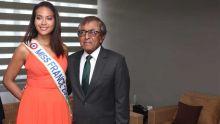 Miss France 2019 à Maurice : Vaimalama Chaves rencontre le ministre Gayan