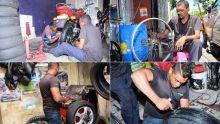 Petite entreprise : l'art de réparer les pneus dans les ateliers «kol fit»