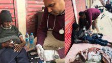 Bonne action : le Dr Yasheel Aukhojeevient en aide à un SDF