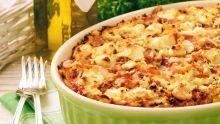 Gratin de macaronis aux petits légumes : pour six personnes