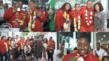 Aéroport : les athlètes handisportifs mauriciens accueillis avec les honneurs après leurs performances aux mondiaux