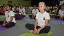 [Images] La Journée mondiale du Yoga célébrée ce vendredi à Pailles
