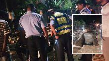 Travaux de la WWMA - Un motocycliste fait une chute dans une tranchée à Highlands