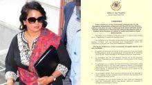 Commission d'enquête : Me Hyderkhan révèle que Gurib-Fakim avait rédigé 5 des «terms of reference»