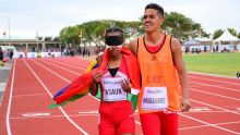 JIOI - Athlétisme : La non-voyante, Anndora Asaun, médaillée d'or : «j'avais les jambes qui tremblaient», dit-elle