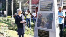Meeting 1er-Mai au Plaza : une stèle dévoilée par la petite fille d'Emmanuel Anquetil