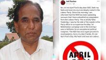 Anil Bachoo dément les «rumeurs» selon lesquelles il aurait démissionné du Parti Travailliste