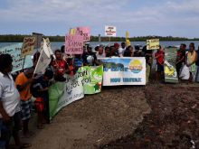 Saint-Antoine: des pêcheurs manifestent contre un projet immobilier