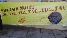 Pointe-aux-Sables : la police enquête sur une banderole portant la photo d'une bombe