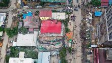 Cambodge : un immeuble de sept étages s'effondre, une cinquantaine d'ouvriers travaillaient sur place