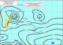 Météo : la perturbation tropicale évoluant au nord-est s'intensifie