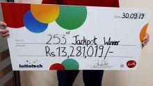Loto : le gagnant du jackpot de Rs 13.2 M veut «aider ceux dans le besoin»