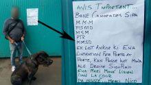 Porte-à-porte des candidats : «Ena mari move lisien dans la cour», a placardé sur sa maison un habitant de Curepipe