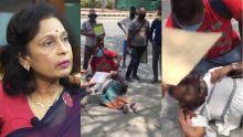 Manif: deux Mauriciennes s'évanouissent devant l'ambassade mauricienne en Inde, Maya Hanoomanjee s'explique