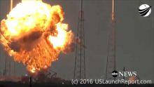 Cap Canaveral : dramatique explosion du satellite de Facebook