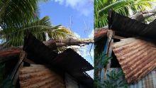 [Images] African Town, Riambel : un filao s'abat sur deux maisons en pleine nuit