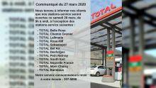 35 stations d'essence Total ouvertes de 9 h à midi ce samedi