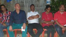 «Le gouvernement a promis de l'eau 24/7, mais en fait c'est 24 sec à la résidence Barkly», dit Guito Lepoigneur