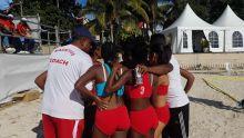 Championnats du monde de Beach Handball : les joueuses rodriguaises arrivent quelques minutes avant le match