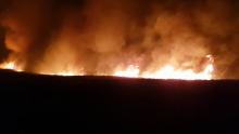 Un incendie dans des champs de canne à Petit-Raffray à l'origine d'un accident de la route