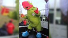 JIOI : histoire de la mascotte Krouink, un cateau vert qui veut mettre la faya autour des athlètes mauriciens