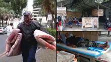 Evacués des centres de refuge : des sinistrés se rendent au jardin de la Compagnie pour protester