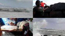 À Rivière-des-Galets : de grosses vagues envahissent les maisons en dépit des murs en pierre