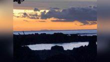 La Réunion visible depuis les côtes sud-ouest de Maurice par beau temps !