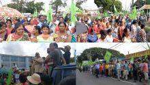Mobilisation des travailleurs de l'industrie de la canne à Rose-Belle