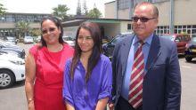 Aryani Jena Moteea, fille de Giandev Moteea, CEO de la Mauritius Post, lauréate au QEC