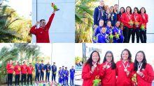 [En images] JIOI 2019 - Natation : la cérémonie de remise de médailles