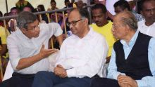 Varusha Pirappu : Navin Ramgoolam, Xavier Duval et Alan Ganoo sur la même plateforme à Blue-Bay