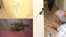 Maisons endommagées à Cassis