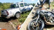 Goodlands: collision entre un 4x4 et une motocyclette, un blessé grave
