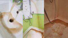 À Sorèze : de l'eau boueuse coule du robinet