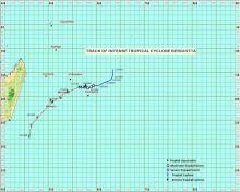 Berguitta : le cyclone passera au plus près de Maurice mercredi soir