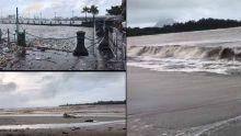 De grosses vagues déferlent sur les côtes nord et ouest de l'île