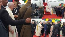 «Le Pape des pauvres» foule le sol mauricien à 10h38
