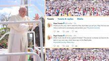Le pape François : «Merci pour votre accueil chaleureux»