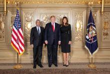 New York : Pravind Jugnauth pose pour la photo souvenir en compagnie du couple Trump