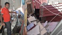 Plaine-Verte : le bâtiment voisin s'effondre sur son entrepôt et cause des dégâts estimés à Rs 387 000